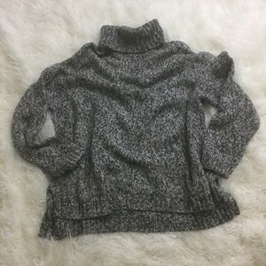 Old Navy gray turtleneck sweater